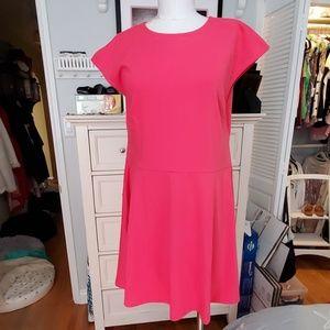 GAP PINK FIT & FLARE DRESS OPEN BACK SZ 16 NWT